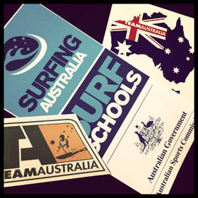 13 Surfing Australia Stickers